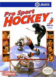 Box cover for Pro Sport Hockey on the Nintendo NES.