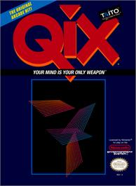 Box cover for Qix on the Nintendo NES.