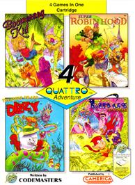 Box cover for Quattro Adventure on the Nintendo NES.