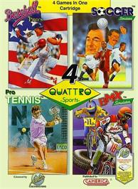 Box cover for Quattro Sports on the Nintendo NES.