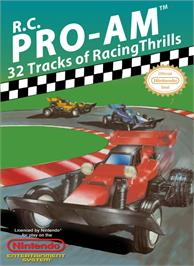 Box cover for R.C. Pro-Am on the Nintendo NES.