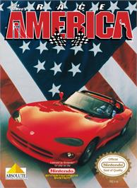 Box cover for Race America on the Nintendo NES.