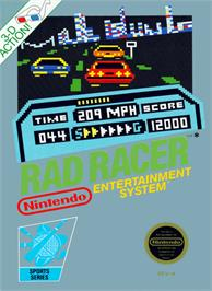 Box cover for Rad Racer on the Nintendo NES.
