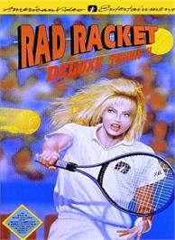 Box cover for Rad Racket: Deluxe Tennis 2 on the Nintendo NES.