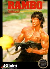 Box cover for Rambo on the Nintendo NES.