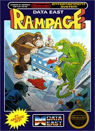 Box cover for Rampage on the Nintendo NES.