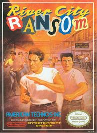 Box cover for River City Ransom on the Nintendo NES.
