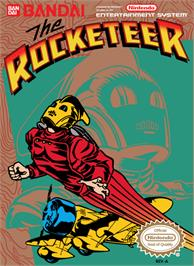 Box cover for Rocketeer on the Nintendo NES.