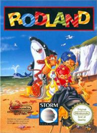 Box cover for Rodland on the Nintendo NES.