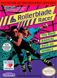 Box cover for Rollerblade Racer on the Nintendo NES.