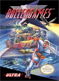 Box cover for Rollergames on the Nintendo NES.