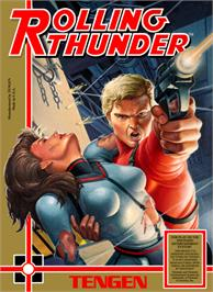 Box cover for Rolling Thunder on the Nintendo NES.