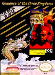Box cover for Romance of the Three Kingdoms on the Nintendo NES.
