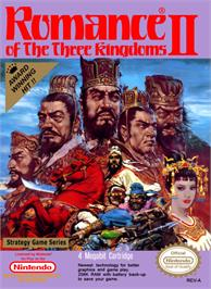 Box cover for Romance of the Three Kingdoms 2 on the Nintendo NES.