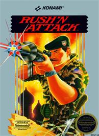 Box cover for Rush'n Attack on the Nintendo NES.