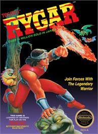 Box cover for Rygar on the Nintendo NES.