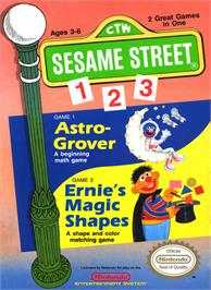 Box cover for Sesame Street 1 2 3 on the Nintendo NES.