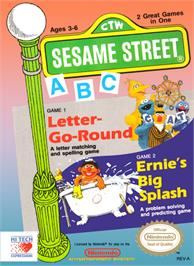 Box cover for Sesame Street A B C on the Nintendo NES.