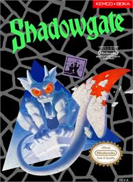 Box cover for Shadowgate on the Nintendo NES.