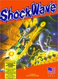 Box cover for Shock Wave on the Nintendo NES.