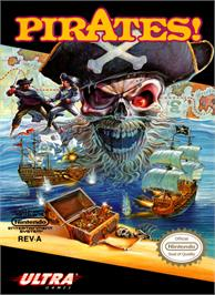 Box cover for Sid Meier's Pirates on the Nintendo NES.