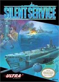 Box cover for Silent Service on the Nintendo NES.