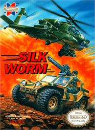 Box cover for Silk Worm on the Nintendo NES.