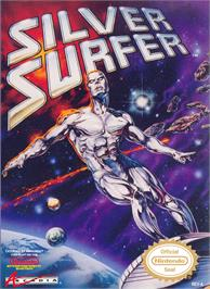 Box cover for Silver Surfer on the Nintendo NES.