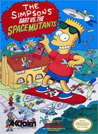 Box cover for Simpsons: Bart vs. the Space Mutants on the Nintendo NES.