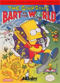 Box cover for Simpsons: Bart vs. the World on the Nintendo NES.