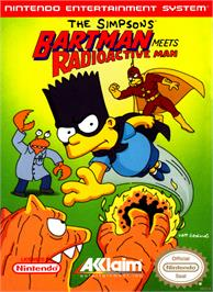 Box cover for Simpsons: Bartman Meets Radioactive Man on the Nintendo NES.