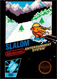 Box cover for Slalom on the Nintendo NES.