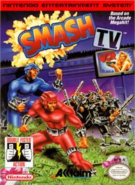 Box cover for Smash T.V. on the Nintendo NES.