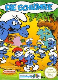Box cover for Smurfs on the Nintendo NES.
