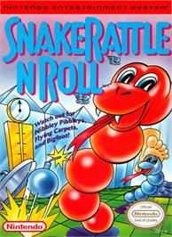 Box cover for Snake Rattle 'n Roll on the Nintendo NES.