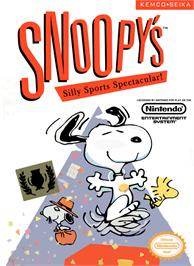Box cover for Snoopy's Silly Sports Spectacular on the Nintendo NES.