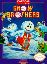 Box cover for Snow Bros. Nick & Tom on the Nintendo NES.