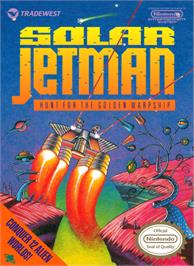 Box cover for Solar Jetman: Hunt for the Golden Warpship on the Nintendo NES.