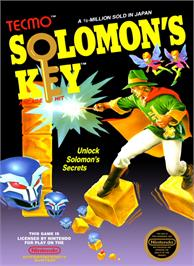 Box cover for Solomon's Key on the Nintendo NES.