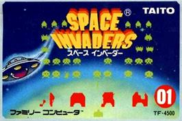 Box cover for Space Invaders on the Nintendo NES.