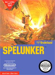 Box cover for Spelunker on the Nintendo NES.