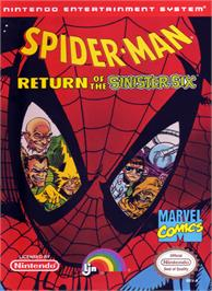 Box cover for Spider-Man: Return of the Sinister Six on the Nintendo NES.