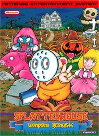 Box cover for Splatterhouse: Wanpaku Graffiti on the Nintendo NES.
