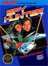 Box cover for Spy Hunter on the Nintendo NES.