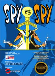 Box cover for Spy vs. Spy on the Nintendo NES.