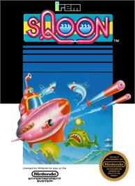 Box cover for Sqoon on the Nintendo NES.
