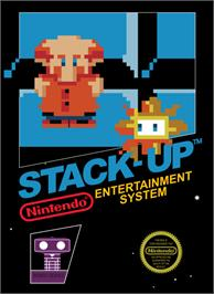 Box cover for Stack Up on the Nintendo NES.