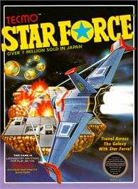 Box cover for Star Force on the Nintendo NES.