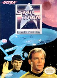 Box cover for Star Trek 25th Anniversary on the Nintendo NES.