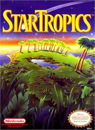 Box cover for Star Tropics on the Nintendo NES.